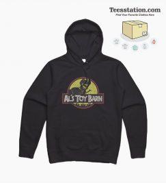 Al's Toy Barn Dino Jurassic Park Parody Hoodie
