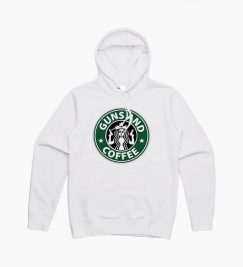 Gun And Coffe Starbuck Logo Parody Hoodie