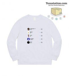 Why Do All Legend Die Instagram Version 2 Sweatshirt