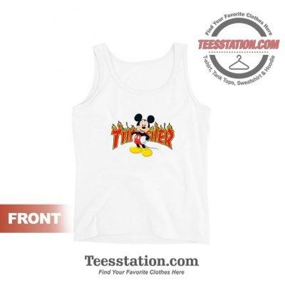 Mickey Mouse X Thrasher Parody Tank Top