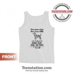Just A Woman Who Loves Dogs And Has Tattoos Tank Tops