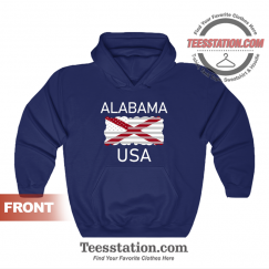 Alabama USA State Flag Hoodie