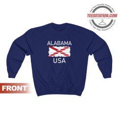 Alabama USA State Flag Sweatshirt