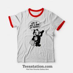 Felix The Cat Life Is Just A Bag Or Tricks Ringer T-shirt