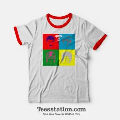 Queen Pop Art Hot Space Ringer T-shirt