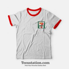 Seventh Heaven 7 Eleven Logo Parody Ringer T-shirt