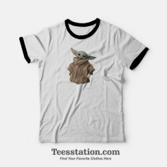 Baby Yoda Star Wars The Mandalorian Child Ringer T-Shirt