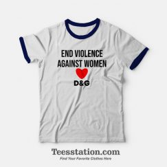 End Violence Against Women Ringer T-Shirt